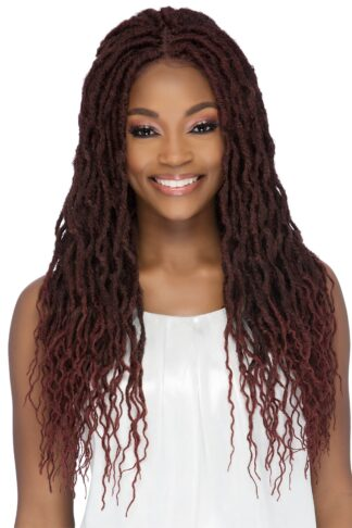 ADALEE  25 NATURAL WAVE DREAD LOC & STRECTED ENDS WITH EXTRA DEEP LACE